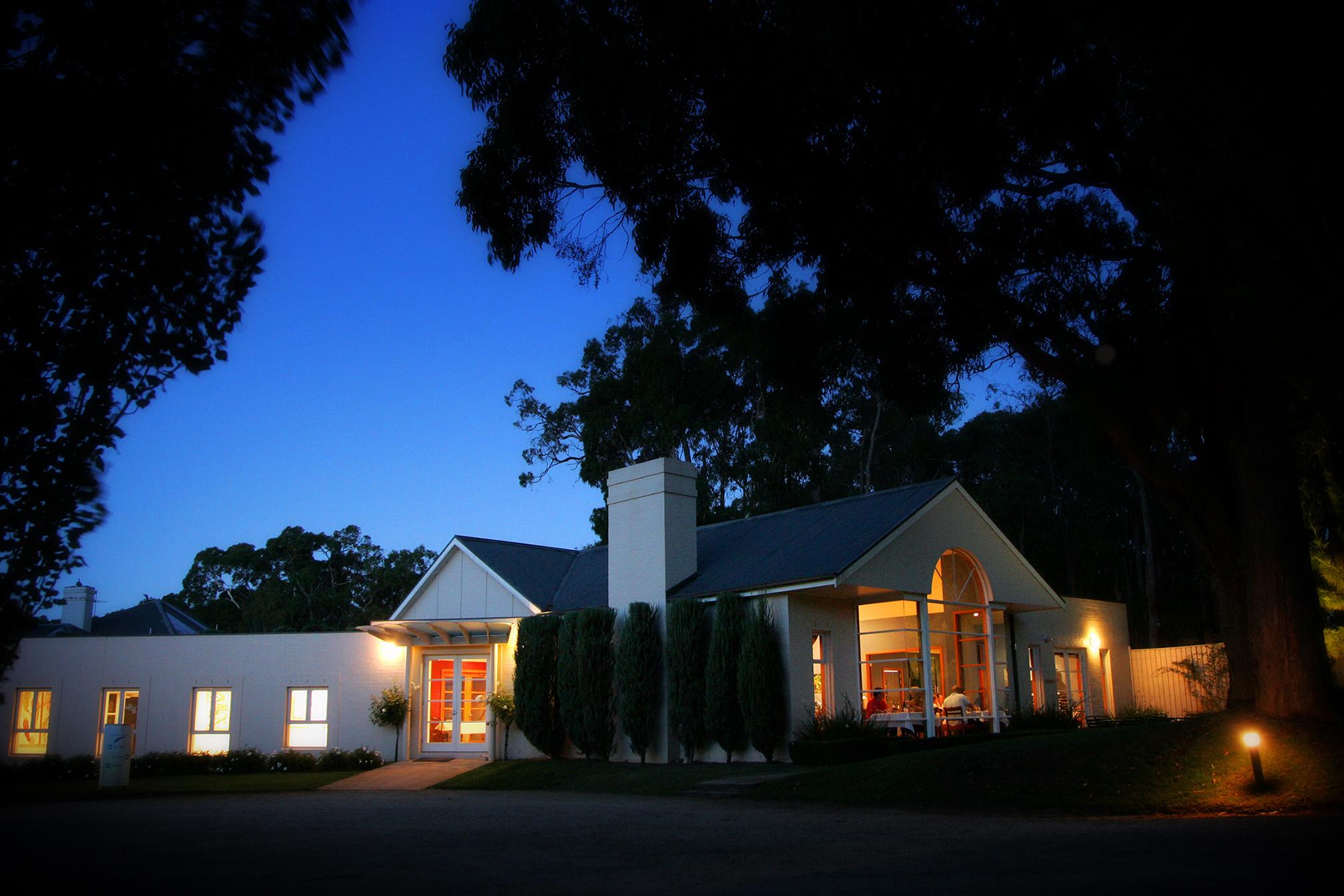 Linden Tree Restaurant at Night