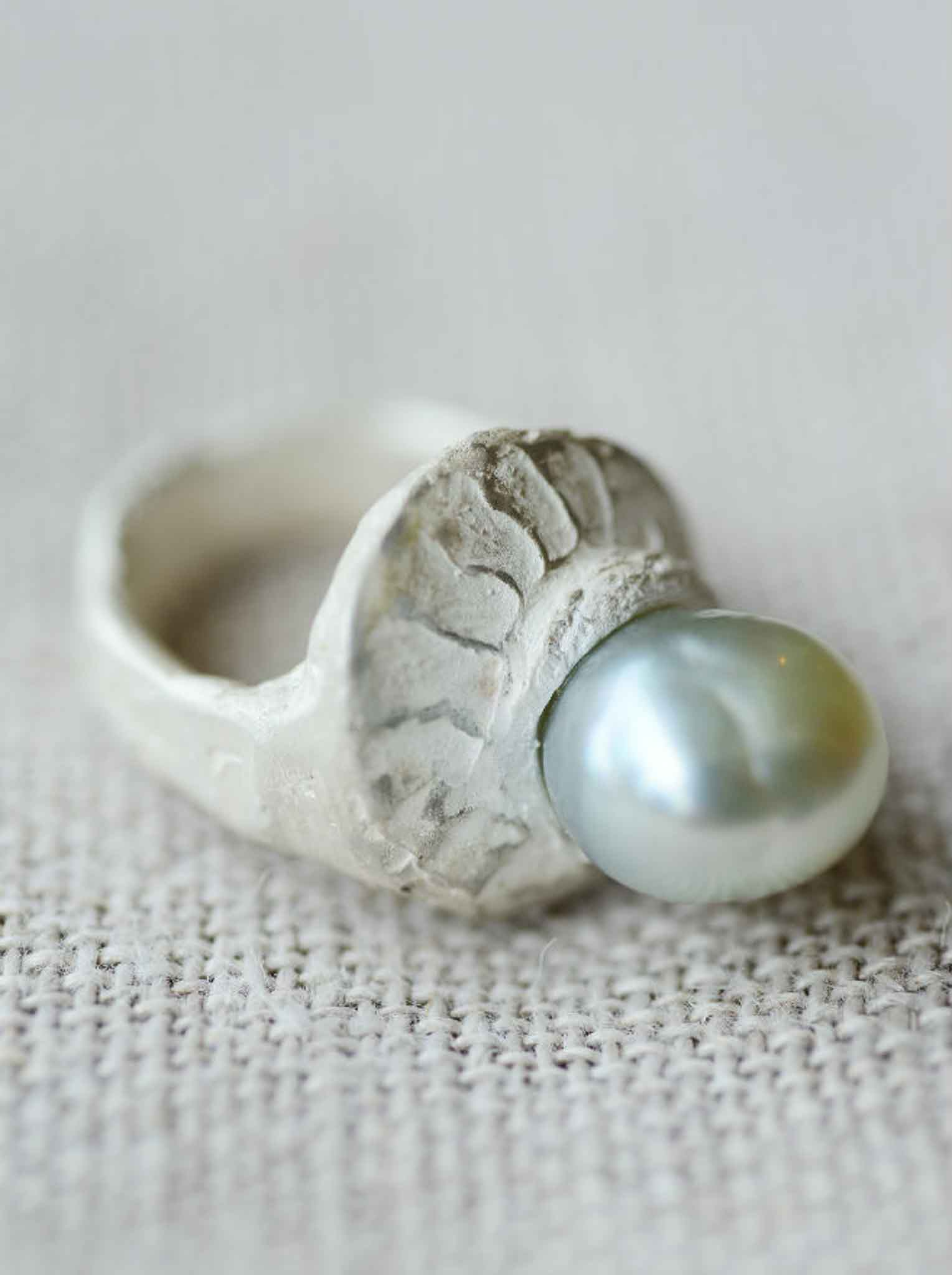 organic South Sea Pearl ring