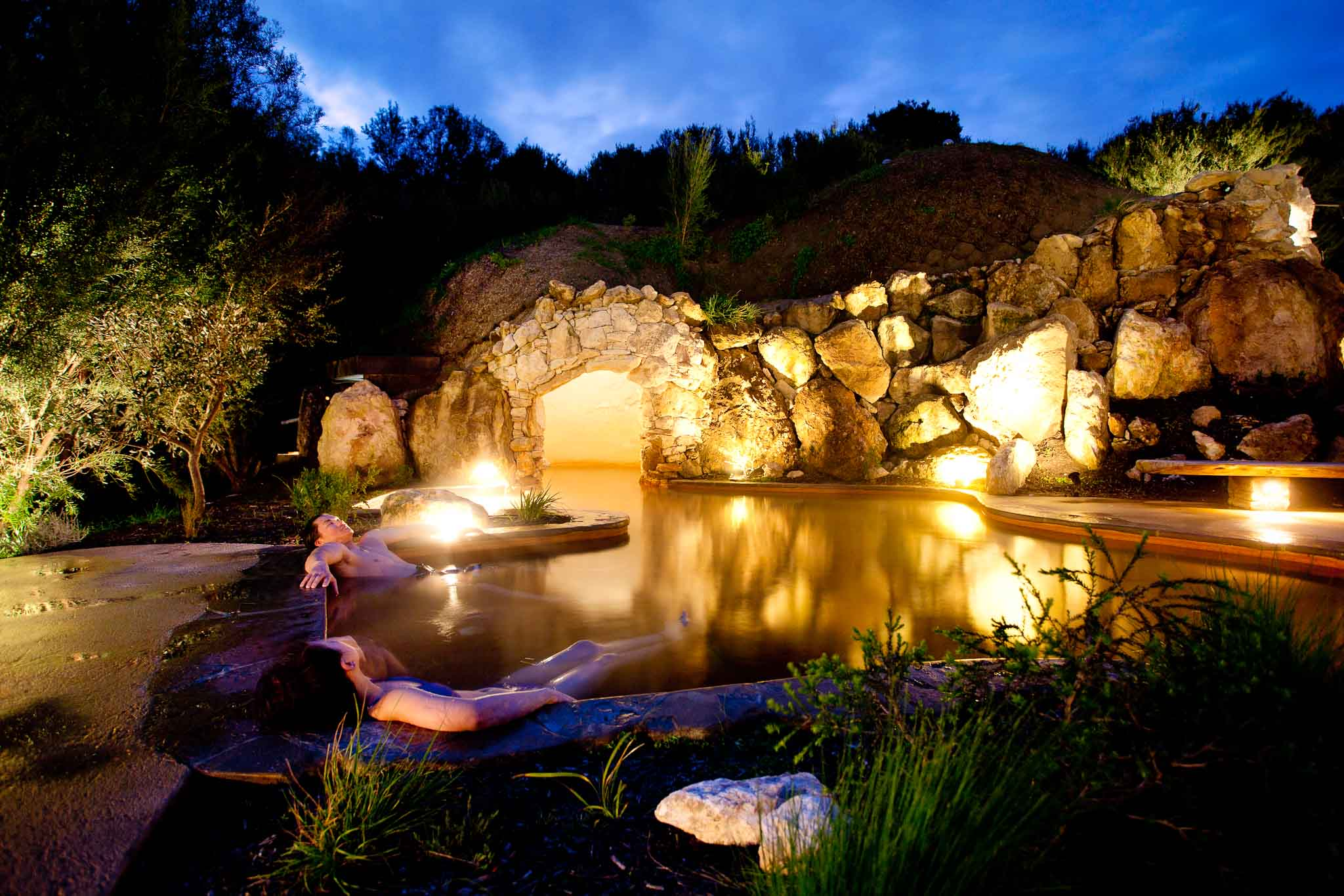 Hot Springs Cave Pool evening