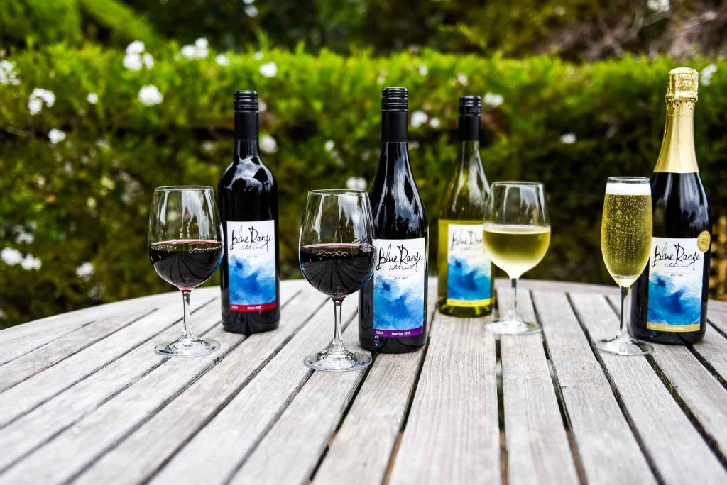 wine bottles and glasses