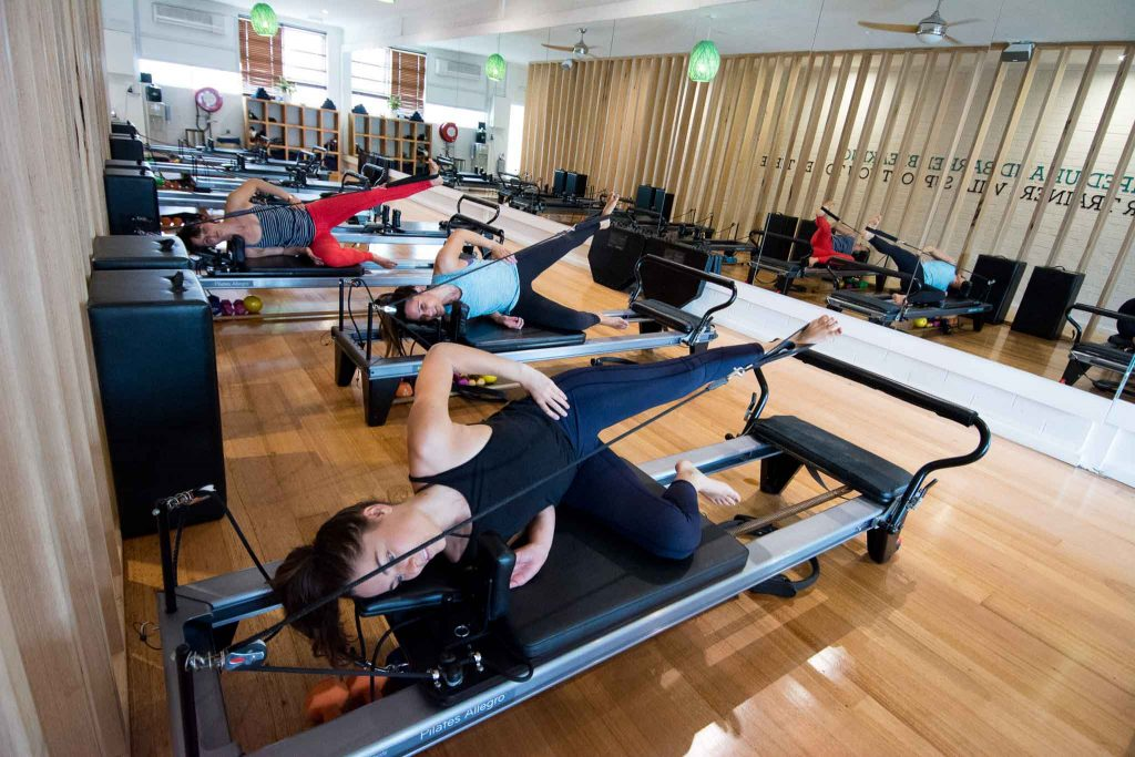 reformer beds at KX pilates