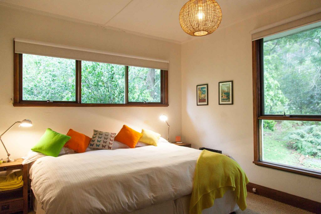 bedroom at butterfly retreats